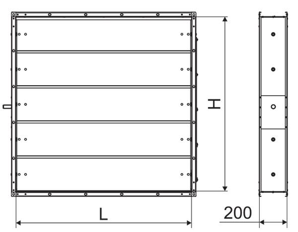 Заслонки прямоугольного сечения АЗД-190-ЭП1
